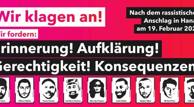 Ein Jahr Hanau. Erinnern heißt verändern!